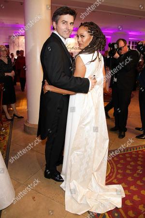 Stock Photo of Milka Loff Fernandes mit Ehemann Robert Irschara