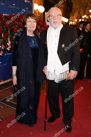 Stock Picture of Lothar de Maiziere mit Ehefrau