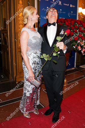 Stock Picture of Wolfgang Lippert mit Ehefrau Gesine