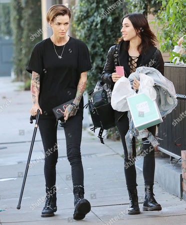 Editorial photo of Ruby Rose out and about, Los Angeles, USA - 23 Jan 2018