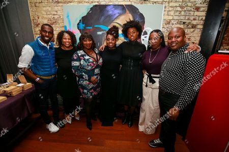 DeRay Mckesson, Mia Phillips, Bevy Smith, Ledisi, Victory Boyd, Tarana Burke, Titus Burgess. BlackLivesMatter activist DeRay Mckesson, National Manager Brand Marketing Strategy for Toyota Mia Phillips, TV/Radio Personality Bevy Smith, Grammy nominee Ledisi, singer Victory Boyd, #MeToo Founder Tarana Burke, and actor Titus Burgess are seen at Toyota Music presents a Quintessential New York Night at The McIntosh House on in New York