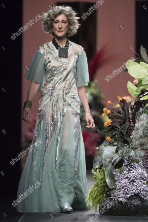 Stock Photo of Cristina Sanchez on the catwalk