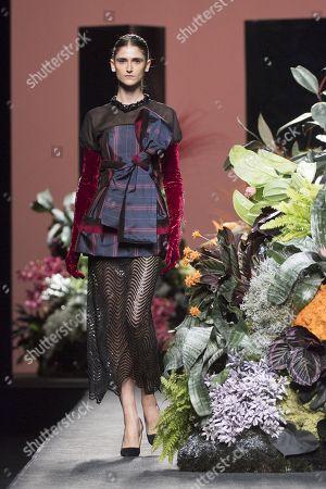 Stock Picture of Daiane Conterato on the catwalk