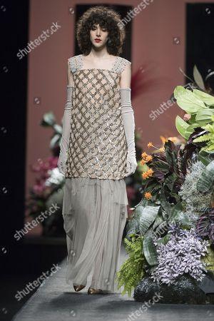 Editorial image of Duyos show, Runway, Autumn Winter, Mercedes Benz Fashion Week, Madrid, Spain