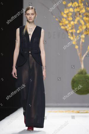 Stock Photo of Nastya Kusakina on the catwalk