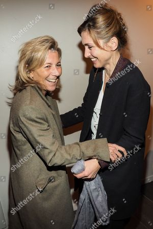 (L-R) Claire Chazal and Julie Gayet