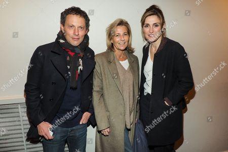 (L-R) Marc-Olivier Fogiel, Claire Chazal and Julie Gayet