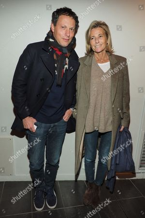 Marc-Olivier Fogiel and Claire Chazal