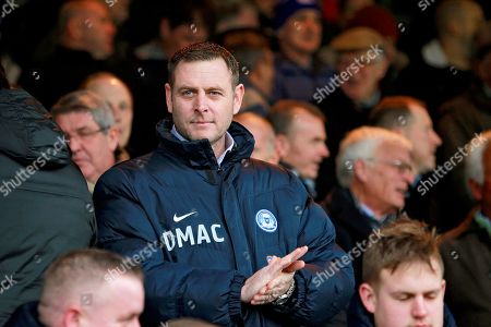 Peterborough chairman Darragh MacAnthony before the The 4th round FA Cup match between Peterborough United and Leicester City at London Road, Peterborough