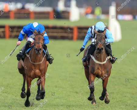 Maria's Benefitthe ridden by Ciaran Gethings and trained by  Stuart Edmunds runs on to win the14:40 Olbg.Com Yorkshire Rose Mares' Hurdle ;Sky Bet Chase at Doncaster Racecourse