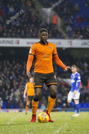 Alfred N'Diaye of Wolverhampton Wanderers during Ipswich Town vs Wolverhampton Wanderers, Sky Bet EFL Championship Football at Portman Road on 27th January 2018
