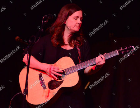 Singer songwriter Lori McKenna performs during the Ann Arbor Folk Festival at Hill Auditorium in Ann Abor, Michigan