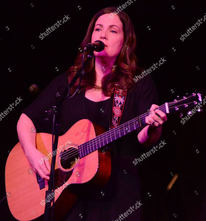 Stock Picture of Singer songwriter Lori McKenna performs during the Ann Arbor Folk Festival at Hill Auditorium in Ann Abor, Michigan
