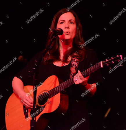 Stock Photo of Singer songwriter Lori McKenna performs during the Ann Arbor Folk Festival at Hill Auditorium in Ann Abor, Michigan