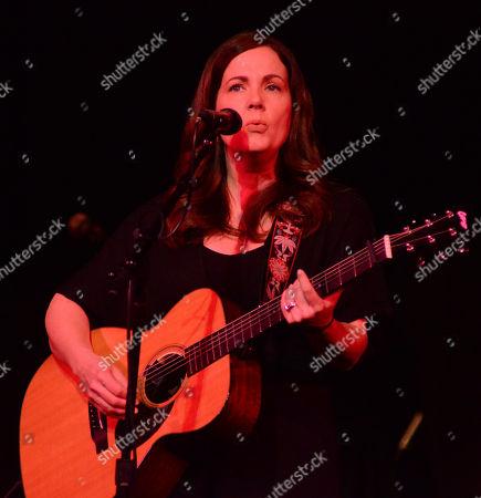 Singer songwriter Lori McKenna performs during the Ann Arbor Folk Festival at Hill Auditorium in Ann Abor, Michigan