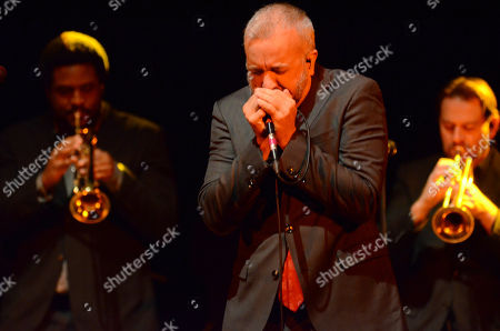 JJ Grey and Mofro performs during the Ann Arbor Folk Festival at Hill Auditorium in Ann Abor, Michigan