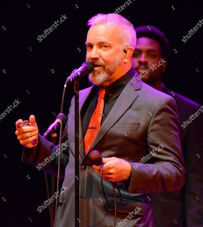 Stock Picture of JJ Grey and Mofro performs during the Ann Arbor Folk Festival at Hill Auditorium in Ann Abor, Michigan