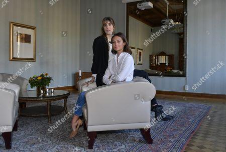 Alicia Vikander with Lisa Langseth, film director