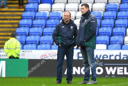 Brendan Venter London Irish Technical Director with Nick Kennedy London Irish Director of Rugby before the Anglo-Welsh Cup Round 3 match between London Irish and Wasps at Madejski Stadium on January 27th 2018 in Reading, Berkshire, England. (Photo by Gareth Davies/PPAUK)
