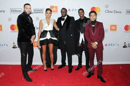 Sean Combs, Cassie Ventura, Christian Combs, Justin Dior Combs, French Montana