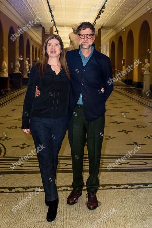 Stock Photo of Producer JoAnne Sellar and director Paul Thomas Anderson
