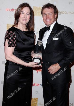 Kathleen Kennedy and Nelson Coates