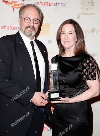 Chuck Parker and Kathleen Kennedy