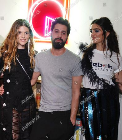 Moises Nieto, Manuel Verdasco and Olivia Molina