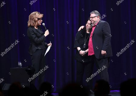 Julie Menin, Michele Anthony, Sir Lucian Grainge. Julie Menin, Michele Anthony and Sir Lucian Grainge attend Sir Lucian Grainge's 2018 Artist Showcase presented by American Airlines and Citi on in New York