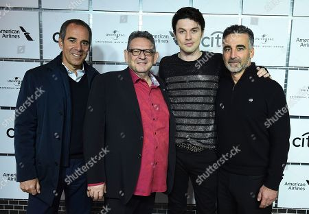 Monte Lipman, Sir Lucian Grainge, James Bay, Avery Lipman. Monte Lipman, Sir Lucian Grainge, James Bay and Avery Lipman attend Sir Lucian Grainge's 2018 Artist Showcase presented by American Airlines and Citi on in New York