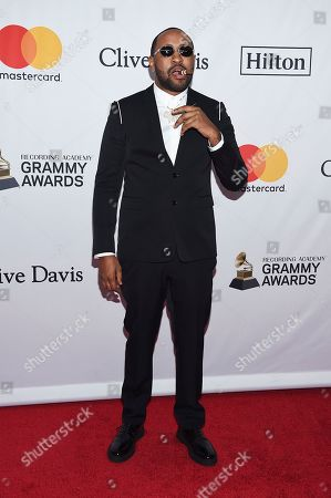 Mike WiLL Made-It arrives at the 2018 Pre-Grammy Gala And Salute To Industry Icons at Sheraton New York Times Square Hotel, in New York
