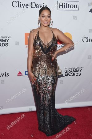 LaLa Anthony arrives at the 2018 Pre-Grammy Gala And Salute To Industry Icons at the Sheraton New York Times Square Hotel, in New York
