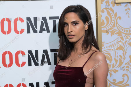 Snoh Aalegra attends the Roc Nation pre-Grammy brunch at One World Trade Center, in New York