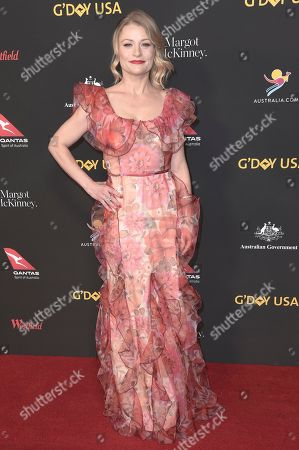 Emilie de Ravin attends the 2018 G'Day USA Los Angeles Gala at the InterContinental Hotel Los Angeles, in Los Angeles
