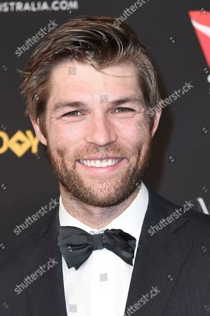 Liam McIntyre attends the 2018 G'Day USA Los Angeles Gala at the InterContinental Hotel Los Angeles, in Los Angeles