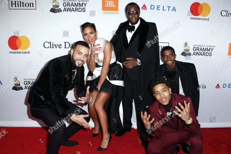 Stock Photo of French Montana, Cassie, Sean Combs with Sons Justin Dior Combs and Christian Combs