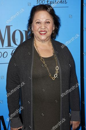 "Amy Hill arrives at the ""Mom"" 100th Episode Celebration, in Los Angeles"