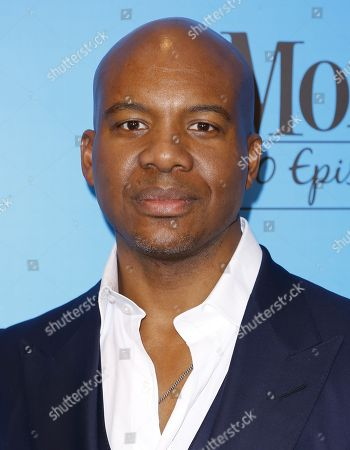 "Leonard Roberts arrives at the ""Mom"" 100th Episode Celebration, in Los Angeles"