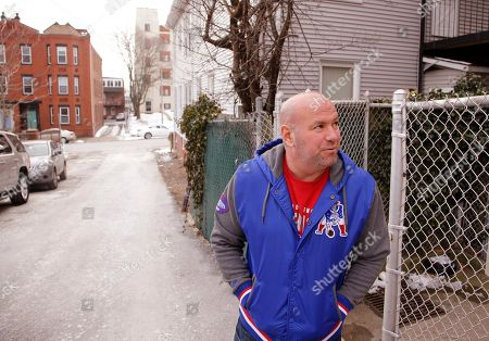 """Dana White, president of the Ultimate Fighting Championship, the largest mixed martial arts organization in the world, stands outside McDonough Gym, where he trained as a young fighter, in the """"Southie"""" neighborhood of Boston. Long before he ran the UFC White was a """"Southie"""" trying to make his way in boxing who dodged the money collectors for notorious crime boss Whitey Bulger that came knocking at his door"""