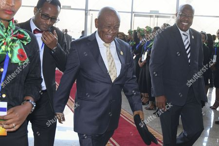 Prime Minister of Lesotho Thomas Motsoahae Thabane (C) arrives at the 30th Ordinary Session of the African Union (AU) Summit in Addis Ababa, Ethiopia, 28 January 2018. African leaders and the United Nations Secretary-General Antonio Guterres will discuss politcal and security issues under the theme 'Winning the Fight against Corruption: A Sustainable Path to Africa's Transformation'.