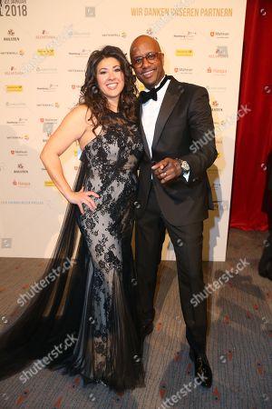 Yared Dibaba mit Ehefrau Fernanda