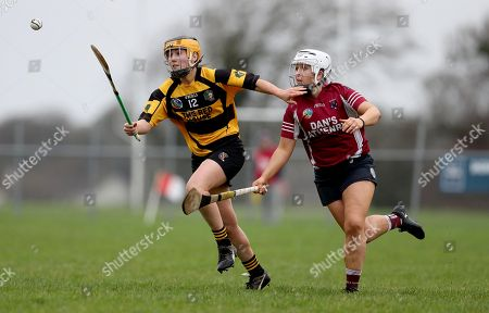 Stock Picture of Athenry vs Lismore . Athenry's Dervla Higgins with Nicola Morrissey of Lismore