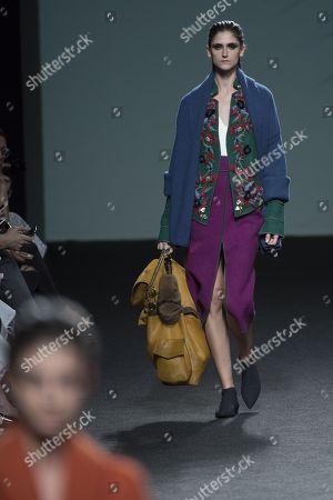 Editorial photo of Marcos Luengo show, Runway, Autumn Winter, Mercedes Benz Fashion Week Madrid, Spain - 28 Jan 2018
