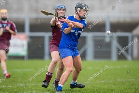 Slaughtneil vs Thomastown. Slaughtneil's Dervlagh McGuigan with Catherine Walsh of Thomastown