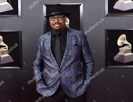 Christian Mcbride arrives at the 60th annual Grammy Awards at Madison Square Garden, in New York