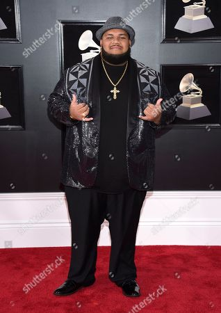 Josh Tatofi arrives at the 60th annual Grammy Awards at Madison Square Garden, in New York