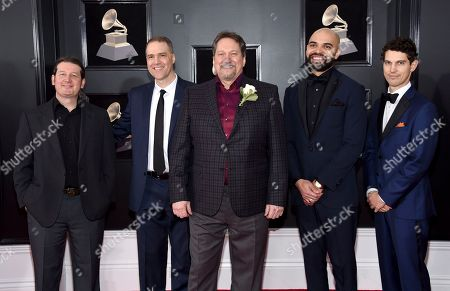 Jerry Douglas Band arrives at the 60th annual Grammy Awards at Madison Square Garden, in New York