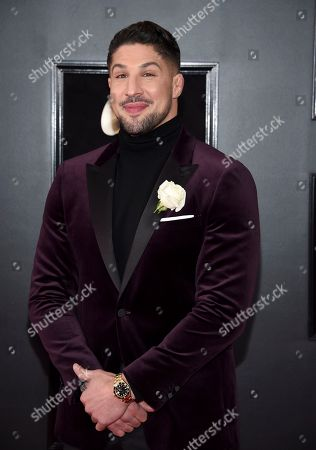 Stock Photo of Brendan Schaub arrives at the 60th annual Grammy Awards at Madison Square Garden, in New York