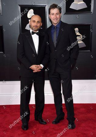 Amir Bar-Lev, Ken Dornstein. Amir Bar-Lev, left, and Ken Dornstein arrive at the 60th annual Grammy Awards at Madison Square Garden, in New York