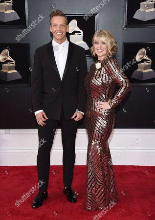 Natalie Grant, Bernie Herms. Bernie Herms, left, and Natalie Grant arrive at the 60th annual Grammy Awards at Madison Square Garden, in New York